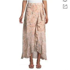 BCBGMaxAzria Brooke Maxi Wrap Skirt NWT